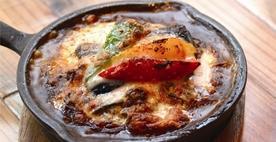 挽肉と茄子の焼きチーズカレー